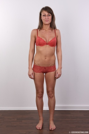 Beautiful brunette with sexy body shows  - XXX Dessert - Picture 5