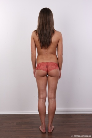 Beautiful brunette with sexy body shows  - XXX Dessert - Picture 9