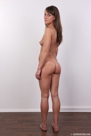 Beautiful brunette with sexy body shows  - XXX Dessert - Picture 16