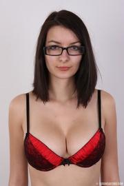 innocent looking brunette with