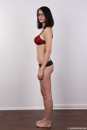 Innocent looking brunette with glass sho - XXX Dessert - Picture 7