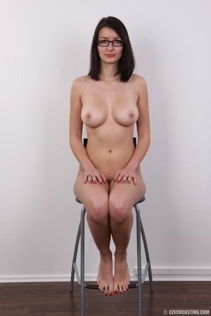 Innocent looking brunette with glass sho - XXX Dessert - Picture 19