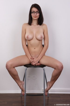 Innocent looking brunette with glass sho - XXX Dessert - Picture 20