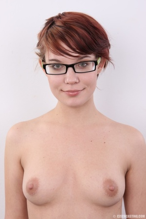Hot red hair chick in glasses with tasty - XXX Dessert - Picture 12