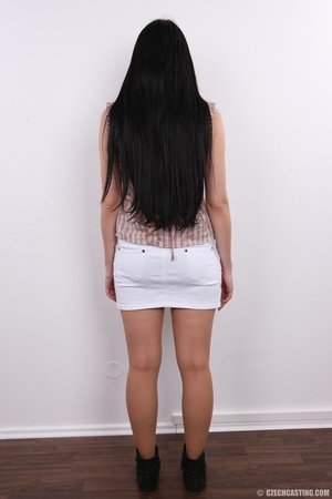 Horny chick with long hair strips to sho - XXX Dessert - Picture 4