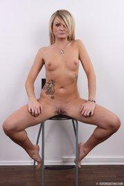 hot horny tattooed blonde