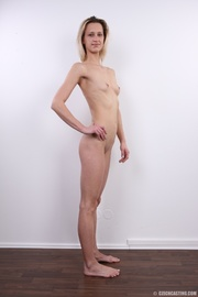 enticing slender blonde with