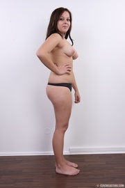 lusty plump brunette with