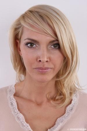 Slim exotic looking blonde shows hot tig - XXX Dessert - Picture 1