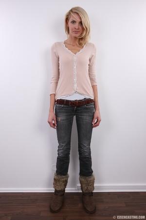 Slim exotic looking blonde shows hot tig - XXX Dessert - Picture 2
