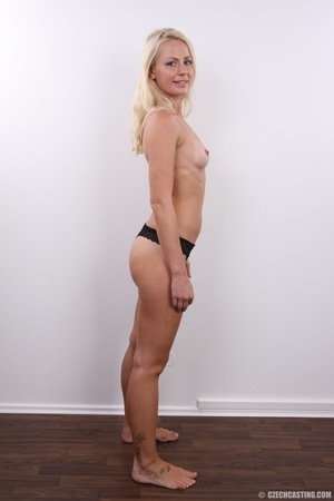 Shy cute blond with soft eyes show sweet - XXX Dessert - Picture 9
