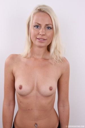 Shy cute blond with soft eyes show sweet - XXX Dessert - Picture 12