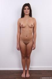 well shaped lusty brunette