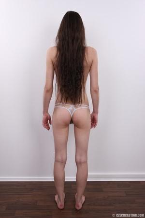 Slim brunette with very bushy pussy, hot - XXX Dessert - Picture 13