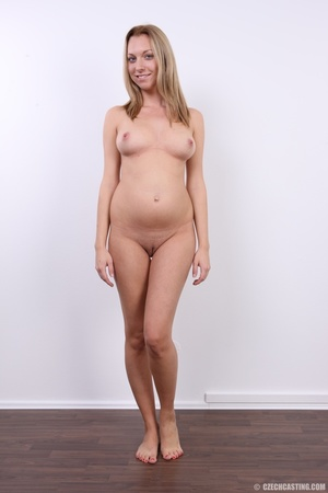 Cute pregnant blonde looking slim and se - XXX Dessert - Picture 25