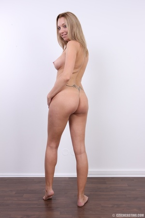 Cute pregnant blonde looking slim and se - XXX Dessert - Picture 30