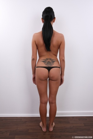 Sweet happy chick with cute tattoo over  - XXX Dessert - Picture 9