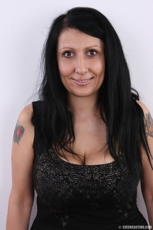 Mature brunette with colorful tattoos, s - XXX Dessert - Picture 2