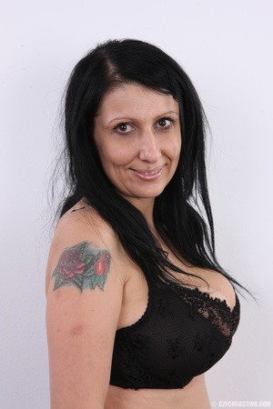 Mature brunette with colorful tattoos, s - XXX Dessert - Picture 6