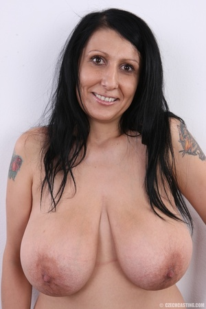 Mature brunette with colorful tattoos, s - XXX Dessert - Picture 10