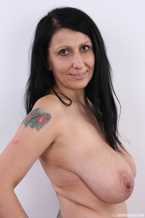 Mature brunette with colorful tattoos, s - XXX Dessert - Picture 13
