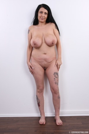 Mature brunette with colorful tattoos, s - XXX Dessert - Picture 15