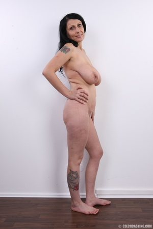 Mature brunette with colorful tattoos, s - XXX Dessert - Picture 16
