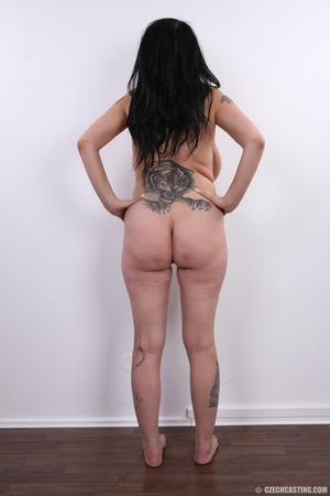 Mature brunette with colorful tattoos, s - XXX Dessert - Picture 17