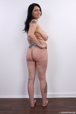 Mature brunette with colorful tattoos, s - XXX Dessert - Picture 18