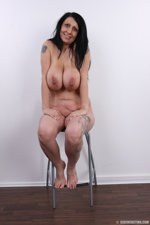 Mature brunette with colorful tattoos, s - XXX Dessert - Picture 19