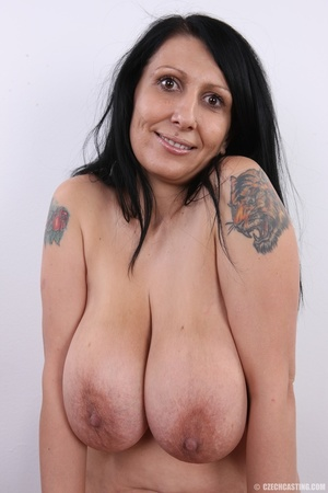 Mature brunette with colorful tattoos, s - XXX Dessert - Picture 20