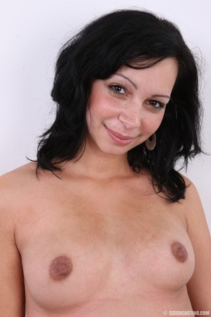 Naughty pregnant young brunette with swo - XXX Dessert - Picture 11