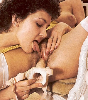 Two hairy seventies lesbians playing wit - XXX Dessert - Picture 12