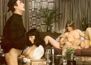 Horny seventies priest boning two wet an - Picture 6