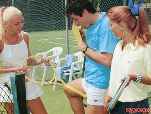 Sporty retro outdoor babes fucked by ten - XXX Dessert - Picture 2