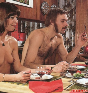 Two horny guys and two hairy girls love  - XXX Dessert - Picture 1