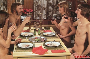 Two horny guys and two hairy girls love  - XXX Dessert - Picture 3