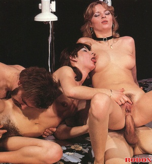 Two horny guys and two hairy girls love  - XXX Dessert - Picture 12