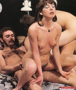 Two horny guys and two hairy girls love  - XXX Dessert - Picture 14
