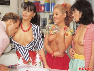 One lucky guy fucking three hot daring r - XXX Dessert - Picture 3