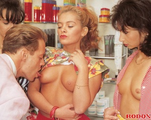 One lucky guy fucking three hot daring r - XXX Dessert - Picture 4