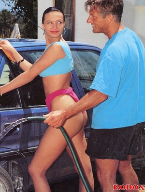 Two car washing hotties screwed hard by  - XXX Dessert - Picture 2