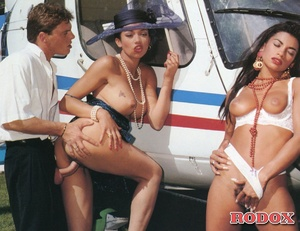 Helicopter pilot shagging two hot retro  - XXX Dessert - Picture 11
