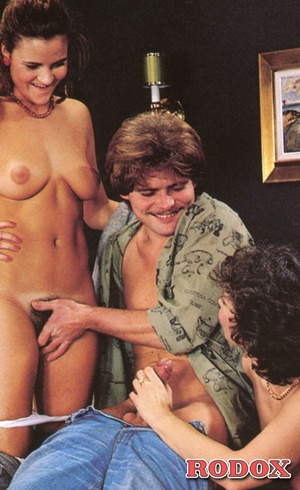 Two hairy hot retro babes love fucking a - XXX Dessert - Picture 11