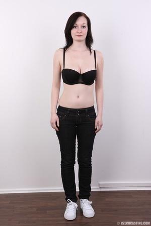 Hot slim chick models big round boobs, h - XXX Dessert - Picture 3