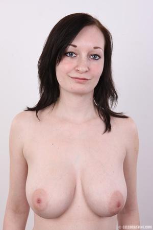 Hot slim chick models big round boobs, h - XXX Dessert - Picture 10