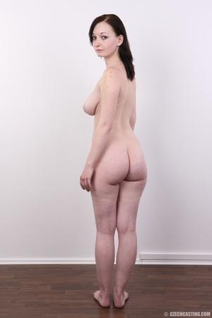Hot slim chick models big round boobs, h - XXX Dessert - Picture 17