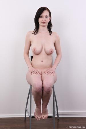 Hot slim chick models big round boobs, h - XXX Dessert - Picture 18