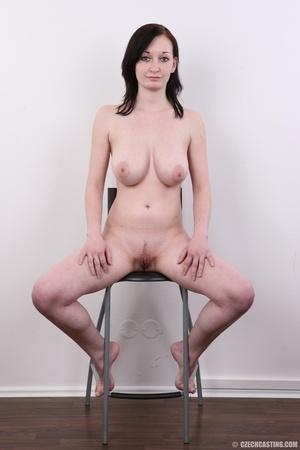 Hot slim chick models big round boobs, h - XXX Dessert - Picture 19