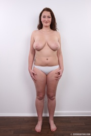 chubby brunette with real